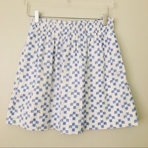 Madewell Blue and White Cotton Skirt